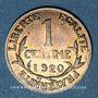 Münzen 3e république (1870-1940). 1 centime Dupuis, 1920
