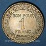 Münzen 3e république (1870-1940). 1 franc Chambre de Commerce 1921