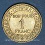 Münzen 3e république (1870-1940). 1 franc Chambre de Commerce 1922