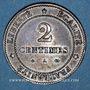 Münzen 3e république (1870-1940). 2 centimes Cérès, 1879A. Petit A