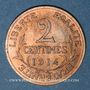 Münzen 3e république (1870-1940). 2 centimes Dupuis, 1914