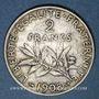Münzen 3e république (1870-1940). 2 francs Semeuse 1908