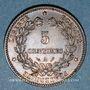 Münzen 3e république (1870-1940). 5 centimes Cérès, 1894A