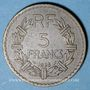 Münzen 3e république (1870-1940). 5 francs Lavrillier bronze d'aluminium 1938