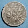 Münzen 3e république (1870-1940). 50 centimes Semeuse 1907