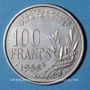 Münzen 4e république (1947-1959). 100 francs Cochet 1958, chouette
