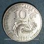 Münzen 5e république (1959- ). 10 francs 1986. Finistère touchant le listel