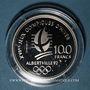 Münzen 5e république (1959-). 100 francs 1990 J.O. Albertville 1992. Ski acrobatique