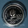 Münzen 5e république (1959-). 100 francs 1990 J.O. Albertville 1992. Slalom moderne