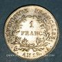 Münzen Consulat (1799-1804). 1 franc an 12 A, 1er Consul