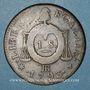 Münzen Convention (1792-1795). Sol aux balances 1793 BB. Strasbourg. Métal de cloche.