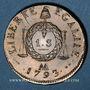 Münzen Convention (1792-1795). Sol aux balances 1793AA. Metz. Refrappe