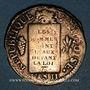 Münzen Convention (1792-1795). Sol aux balances 1793BB. Strasbourg. Métal de cloche