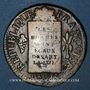 Münzen Convention (1792-1795). Sol aux balances 1793BB Strasbourg