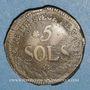 Münzen Convention. Siège de Mayence. 5 sols 1793