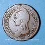 Münzen Directoire (1795-99). UN décime, modification du 2 DECIMES avec S effacé an 4A