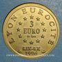 Münzen Euro des Villes. Lyon (69). 3 euro 1996