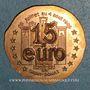 Münzen Euro des Villes. Saint-Donat (26). 1,5 euro 1997