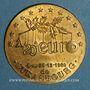 Münzen Euros des Villes. Strasbourg. 1/20e euros 1996