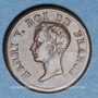 Münzen Henri V, prétendant (1830-1883). Module de 1/2 franc 1833 en bronze