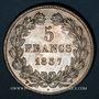 Münzen Louis Philippe (1830-1848). 5 francs 1837 W. Lille