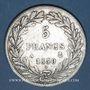 Münzen Louis Philippe (1830-1848). 5 francs, tranche en relief, 1830A