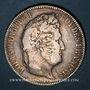 Münzen Louis Philippe (1830-1848). 5 francs, tranche en relief, 1831B. Rouen