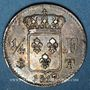 Münzen Louis XVIII (1815-1824). 1/4 franc 1817T. Nantes