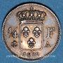 Münzen Louis XVIII (1815-1824). 1/4 franc 1822A