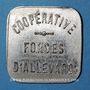Münzen Allevard (38). Coopérative - Forges d'Allevard. Restaurant A supplément. Zinc nickelé