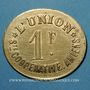 Münzen Amiens (80). Société Coopérative l'Union. 1 franc