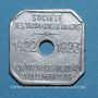 Münzen Amiens (80). Société des Tramways d'Amiens. 30 centimes 1922-23