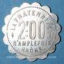 Münzen Amplepuis (69). La Fraternité - Société Coopérative. 2 francs