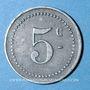Münzen Angoulême (16). S. C. P. (Société Coopérative de la Poudrerie). 5 centimes