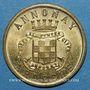 Münzen Annonay (07). Union Commerciale et Industrielle. 10 centimes 1918. Laiton