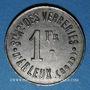 Münzen Arleux (59). Sté Ame des Verreries d'Arleux. 1 franc