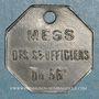 Münzen Artillerie. 56e R.A.C., Mess des Sous-Officiers. Montpellier, Castres. 1 franc