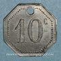 Münzen Artillerie. 56e R.A.C., Mess des Sous-Officiers. Montpellier, Castres. 10 cmes
