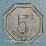 Münzen Artillerie. 56e R.A.C., Mess des Sous-Officiers. Montpellier, Castres. 5 cmes
