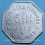 Münzen Audincourt (25). Filatures et Tissages Japy. 50 centimes