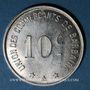Münzen Barbaira (11). Union des Commerçants. 10 centimes, sans cercle perlé