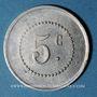 Münzen Barbaira (11). Union des Commerçants. 5 centimes, cercle perlé au revers