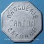 Münzen Bayonne (64). Droguerie Canton. 25 centimes