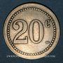 Münzen Besançon (25). Grande Brasserie Lorraine. 20 centimes
