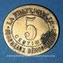 Münzen Béziers (34). Ville de Béziers - La Fraternelle. 5 centimes 1.1.1880