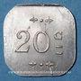 Münzen Bourg-en-Bresse (01). Mess des Sous-Officiers du 23e. Bourg. 20 centimes 1918