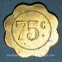 Münzen Cannes (06). Brasserie du Casino. 75 centimes