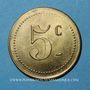 Münzen Castres (81). Au Printemps - Ch. Desplats. 5 centimes