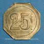 Münzen Castres (81). Restaurant Coopérative - D.P.A. (Dépôt du Parc d'Artillerie). 25 centimes