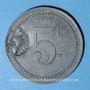 Münzen Cholet (49). Cantine GIRARD - 77e d'Infanterie. 5 centimes. Contremarqué